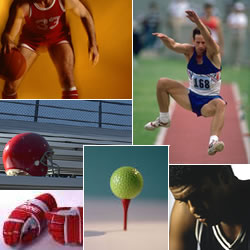 Basketball, track & field, football, golf, hockey professional services